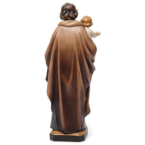 Statue St Joseph à l'enfant bois peint 5