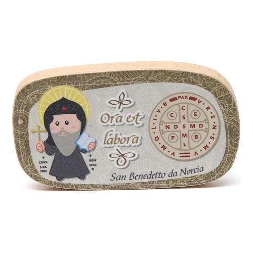 Św. Józef z dzieckiem figurka z drewna malowanego 6
