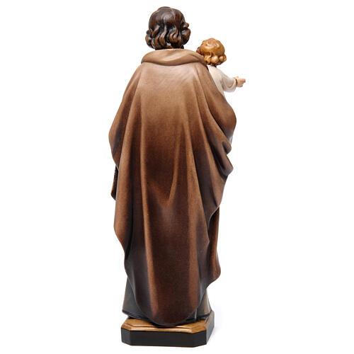 Św. Józef z dzieckiem figurka z drewna malowanego 5