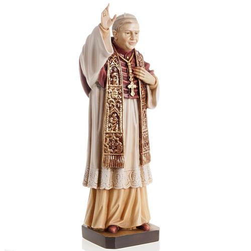 Benedict XVI wooden statue painted 2