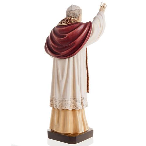 Benedict XVI wooden statue painted 5