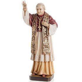 Statues en bois peint: Statue bois Benoît XVI peinte