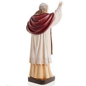 Benedict XVI wooden statue painted s5