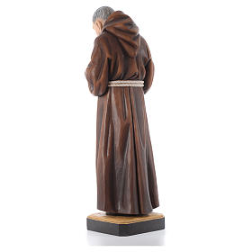 St Father Pio of Pietralcina wooden statue painted s10