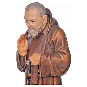 Estatua madera San Pio de Pietrelcina pintada s5
