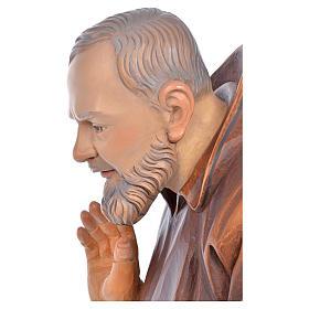 Imagem madeira São Pio de Pietrelcina pintada s7