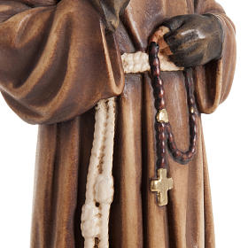 St Father Pio of Pietralcina wooden statue painted s7