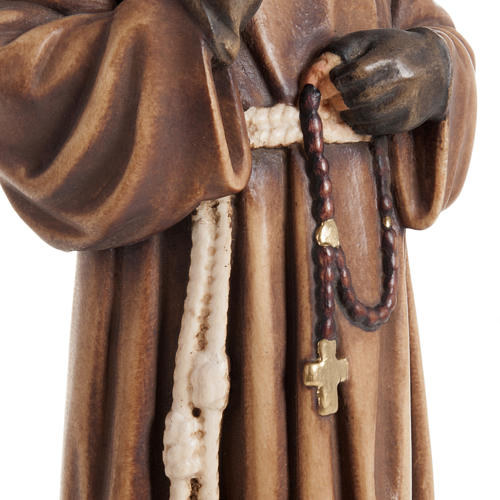 St Father Pio of Pietralcina wooden statue painted 7