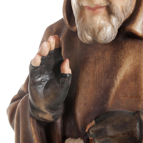 St Father Pio of Pietralcina wooden statue painted 9