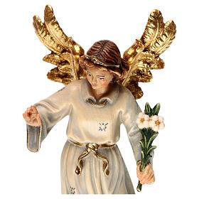 Statue bois Archange Gabriel peinte s2