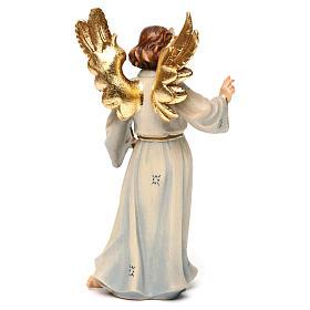 Statue bois Archange Gabriel peinte s5