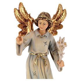 Statua legno Arcangelo Gabriele dipinta Val Gardena