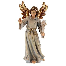 Archangel Gabriel wooden statue painted s1