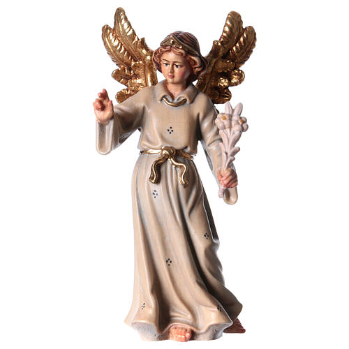 Archangel Gabriel wooden statue painted 1