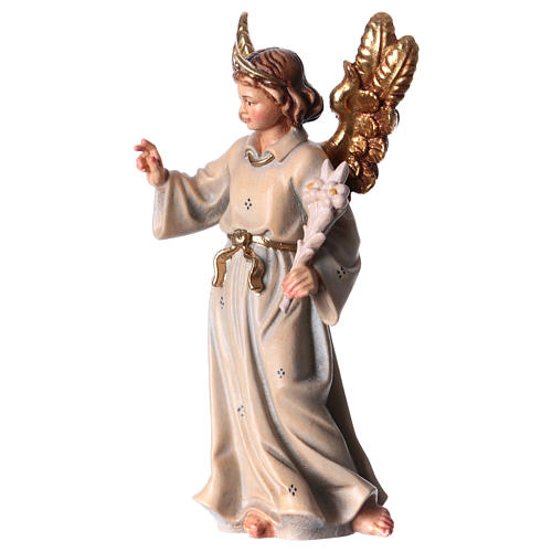 Archangel Gabriel wooden statue painted 2