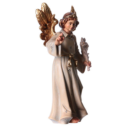 Archangel Gabriel wooden statue painted 3