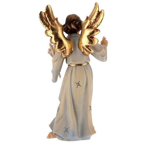 Archangel Gabriel wooden statue painted 5