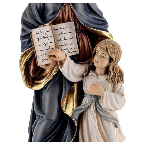Saint Anne with Mary wooden statue painted 4
