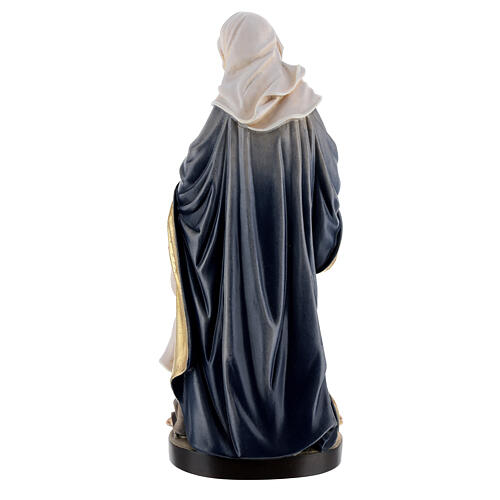 Saint Anne with Mary wooden statue painted 7