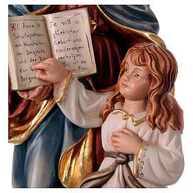 Estatua madera Santa Ana con María pintada Val Gardena s2