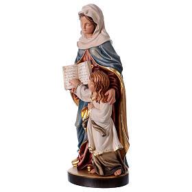 Estatua madera Santa Ana con María pintada Val Gardena s3