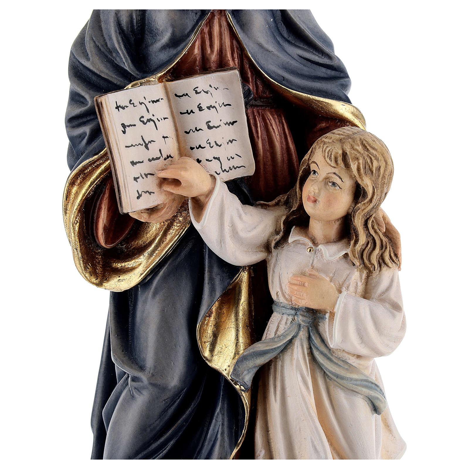Sainte Anne et Marie statue peinte bois Val Gardena 4