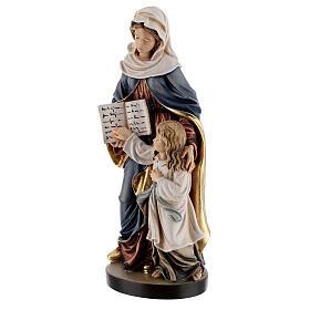 Święta Anna z Maryją drewniana figurka malowana Val G s3