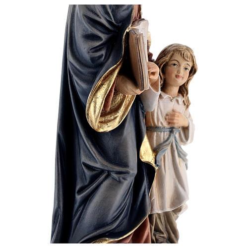 Święta Anna z Maryją drewniana figurka malowana Val G 6