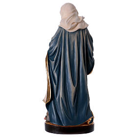 Saint Anne with Mary wooden statue painted s5