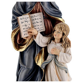 Saint Anne with Mary wooden statue painted s4