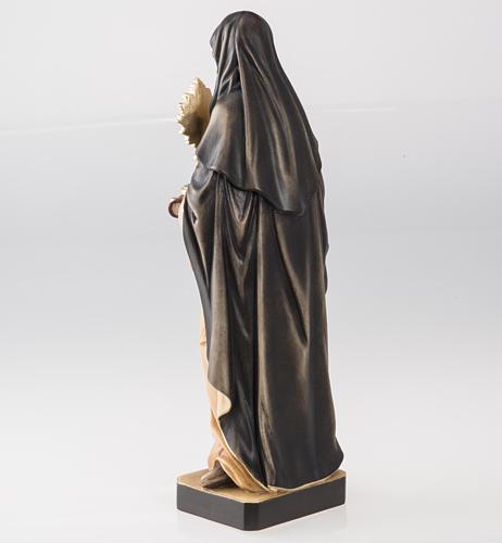 Statue bois Sainte Claire avec ostensoir peinte 5