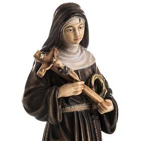 Statue bois Sainte Rita de Cascia peinte s2