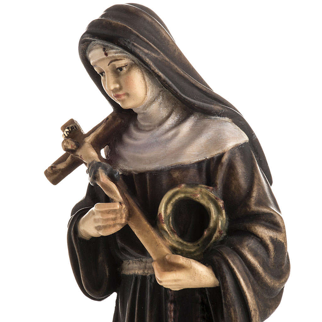 St Rita of Cascia wooden statue painted 4
