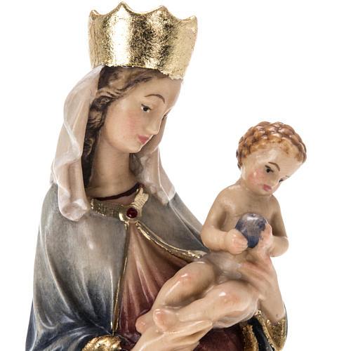 Estatua madera Virgen de Krumauer pintada Val Gardena 10