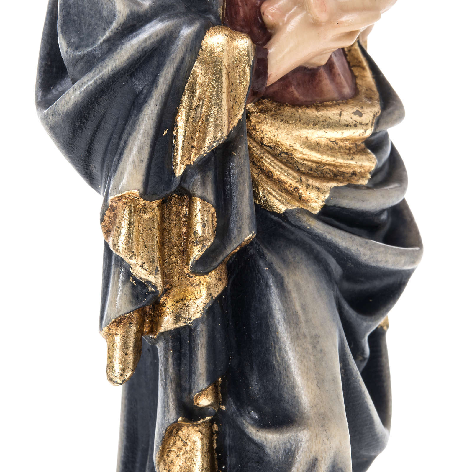Our Lady of Krumauer wooden statue painted 4