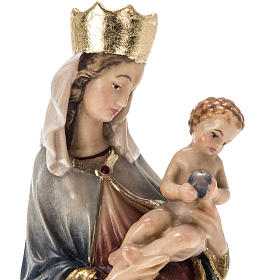 Our Lady of Krumauer wooden statue painted s10