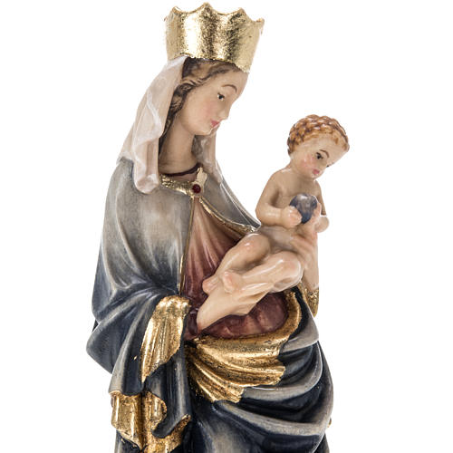 Our Lady of Krumauer wooden statue painted 3