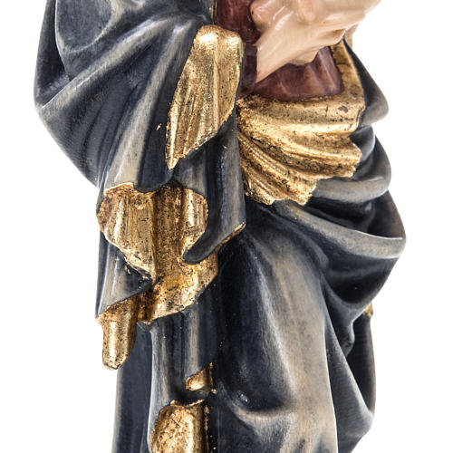 Our Lady of Krumauer wooden statue painted 12