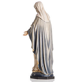 Our Lady of Grace wooden statue painted s5