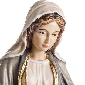 Estatua madera Virgen de las Gracias pintada Val Gardena s2