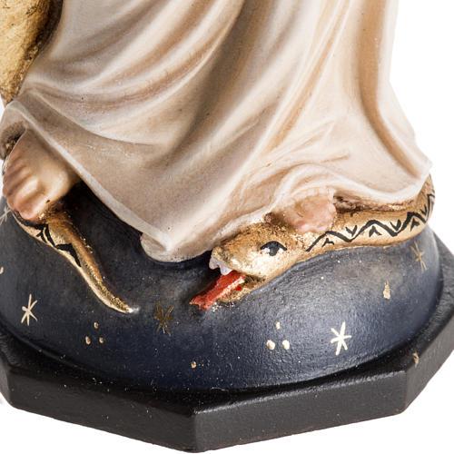 Estatua madera Virgen de las Gracias pintada Val Gardena 3