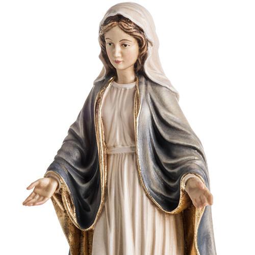 Estatua madera Virgen de las Gracias pintada Val Gardena 4