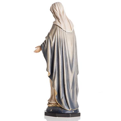Estatua madera Virgen de las Gracias pintada Val Gardena 5