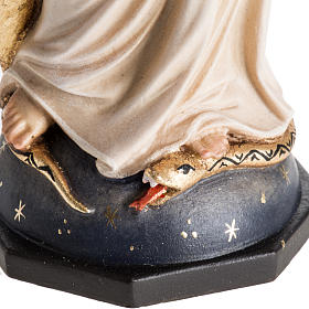 Statue Notre Dame de Grâces peinte bois Val Gardena s3