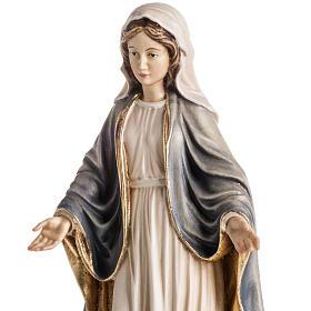 Imagem madeira Nossa Senhora das Graças pintada s4