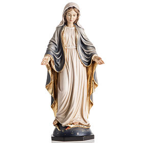 Our Lady of Grace wooden statue painted s1