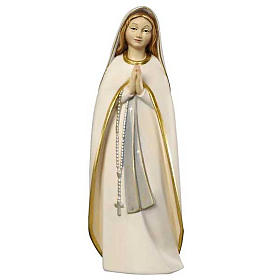 Imágenes de Madera Pintada: Estatua madera Virgen del Peregrino pintada Val Gardena