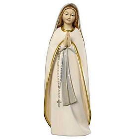 Statues en bois peint: Statue Madone des Pèlerins peinte bois Val Gardena