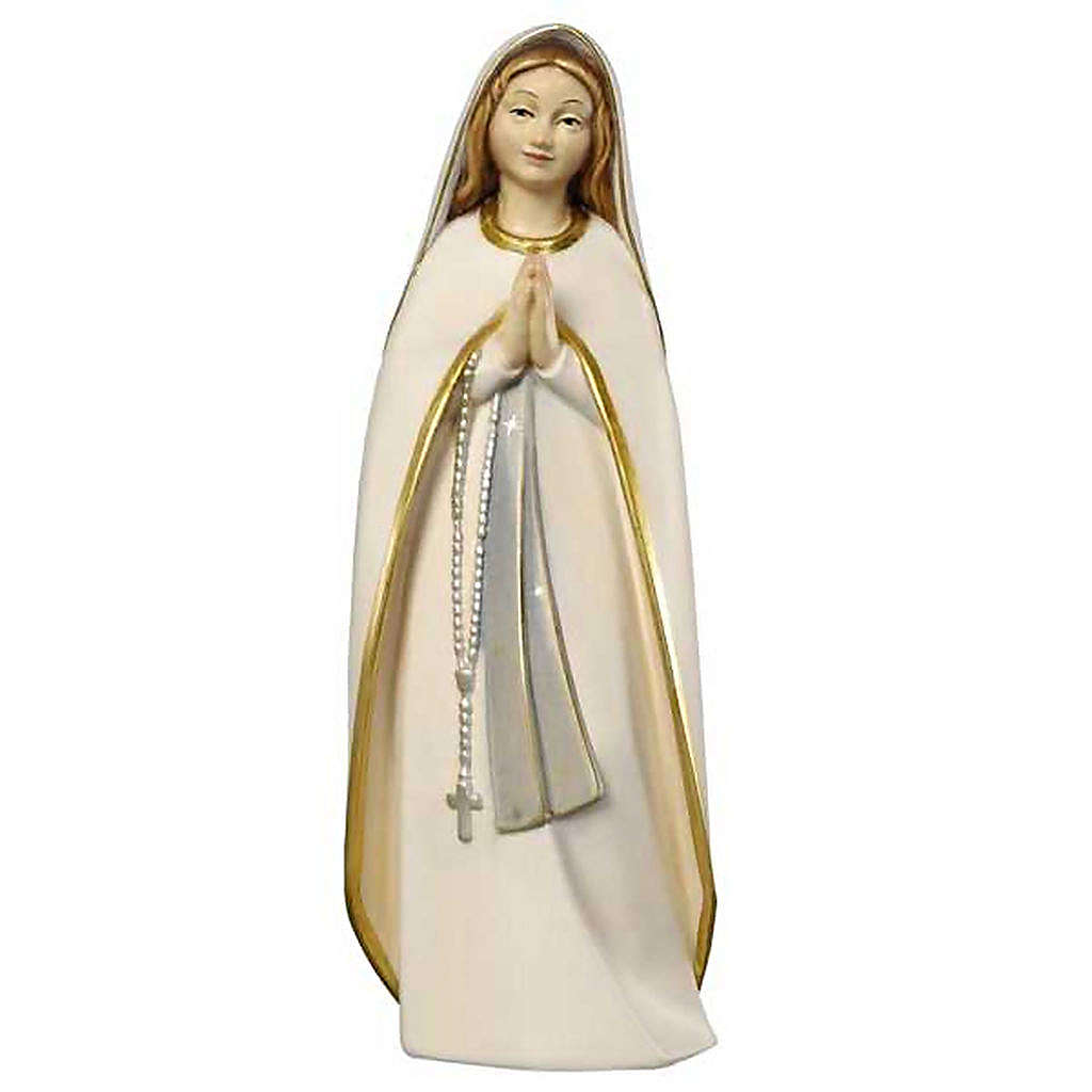 Our Lady of Pilgrim wooden statue painted 4