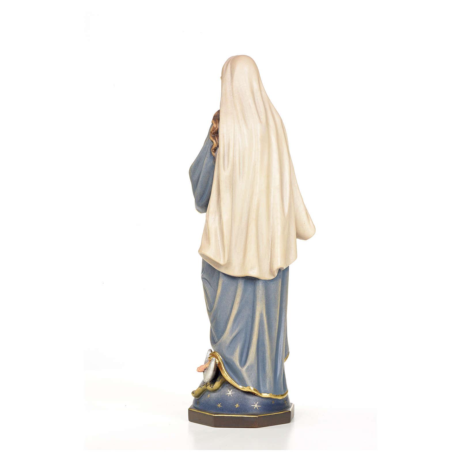 Statua Madonna Immacolata legno dipinto 4